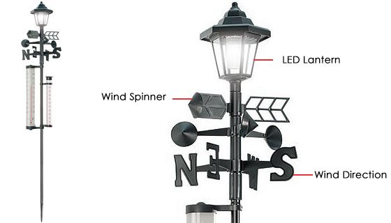 Solar Powered Lamp Post <br />with Weather Station