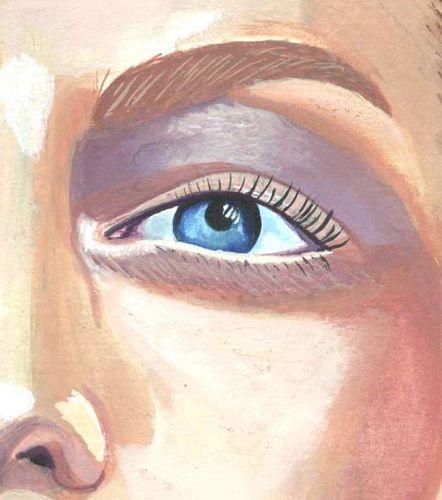 watercolor eye ilustration of woman. Ilustración con acuarela. photographer  graphic designer. https://www.behance.net/aramarius