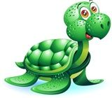 Vector: Tartaruga Marina Cartoon-Sea Turtle Cartoon-Vector
