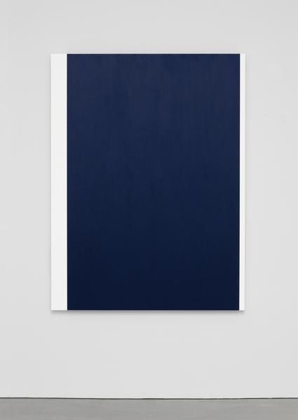 Ellsworth Kelly, Blue with Two Whites 2014 Oil on canvas, three joined panels 65 1/4 x 49 1/4 inches; 166 x 125 cm