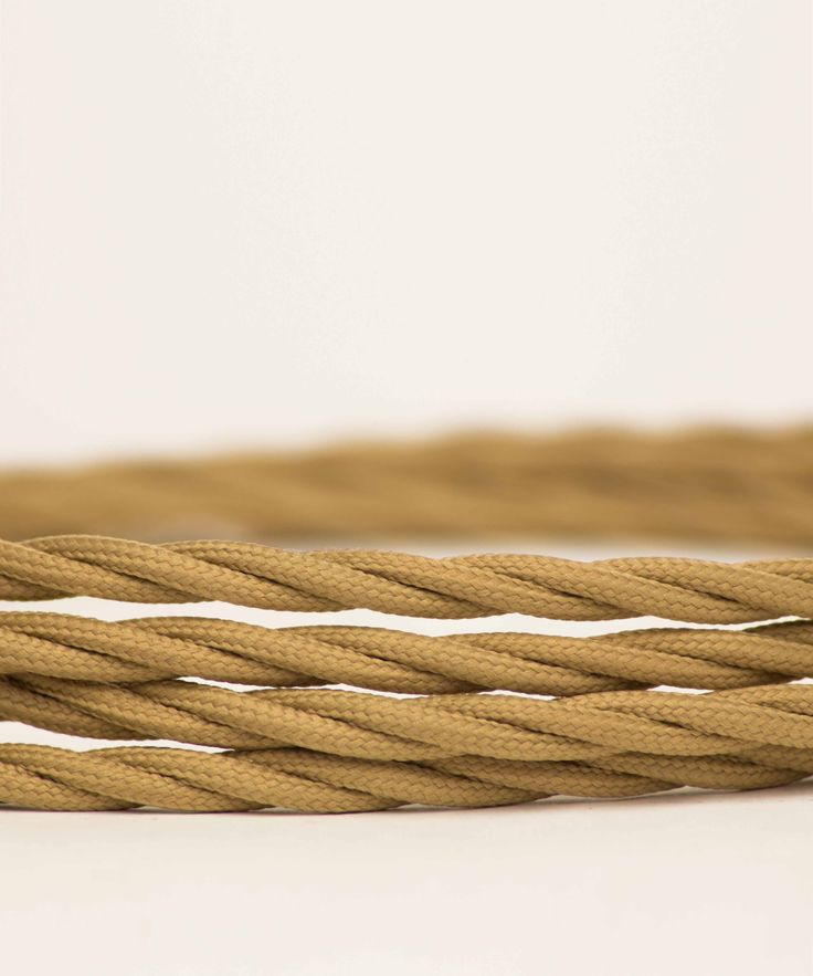 Vintage Fabric Electric Cable - Beige Twisted - William&Watson