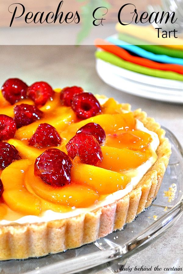 Though the peaches are obviously the star, top with fresh raspberries for a tart contrast.%0AGet the recipe from Lady Behind the Curtain.%0A%0A  - Delish.com