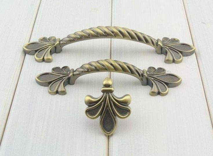 Fleur De Lis Drawer Pull Cabinet Door Handle Dresser Handles Pulls Gold Br Cream Antique