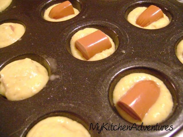 Mini Baked Corn Dogs using Jiffy Corn Muffin mix and turkey dogs!  Yummy!  My kids will LOVE these!