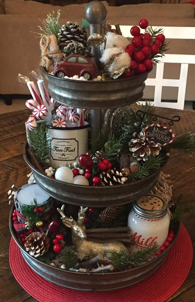 """This is neat, and you can put all your extra decorations that don't have a """"home"""" on this"""
