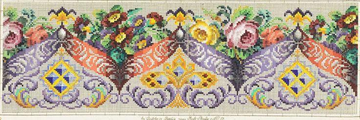 A Fabulous Berlin WoolWork Border Pattern Produced By Louis Glüer Berlin