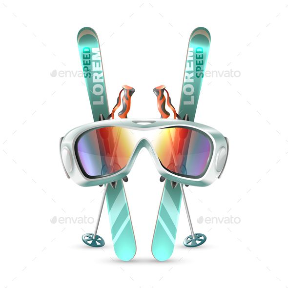 Ski Club Icon Set