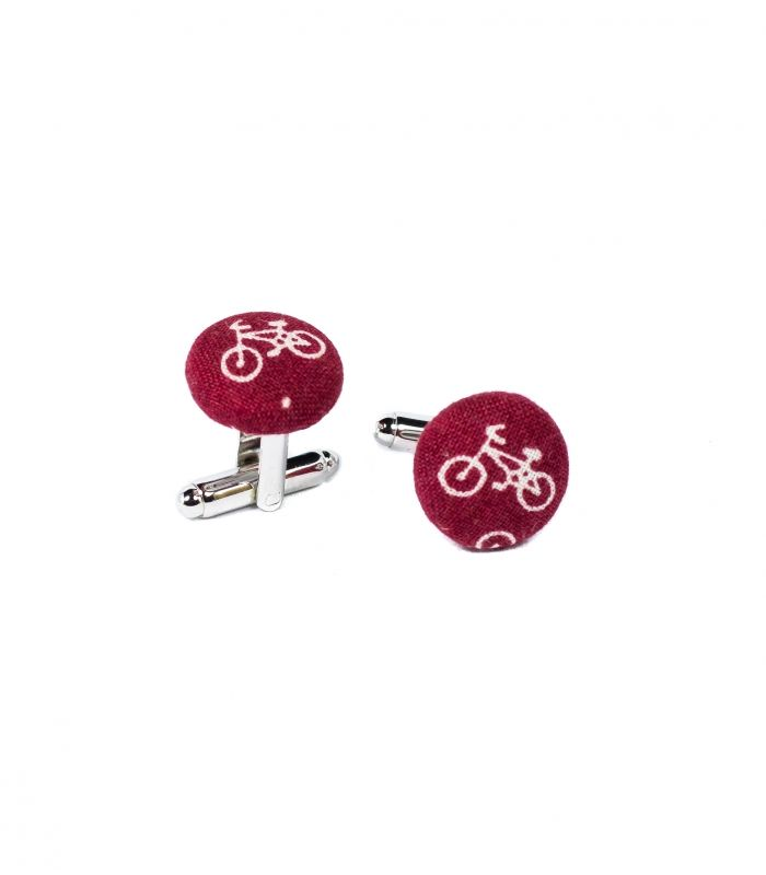 Complete your outfit with our original fabric covered cufflinks!