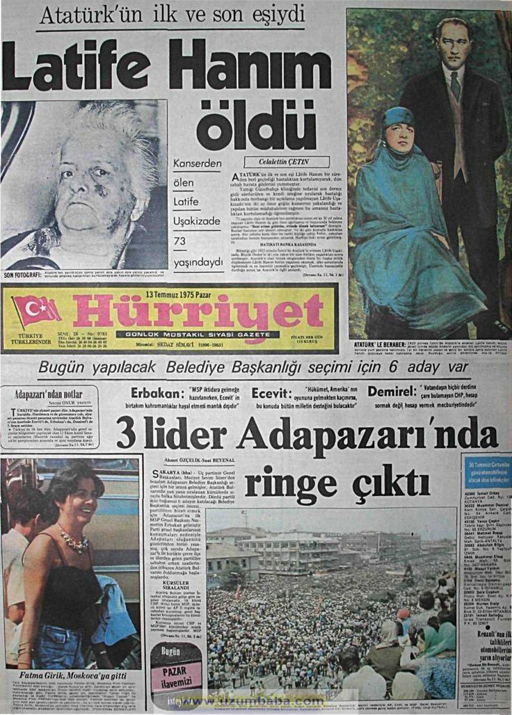Hürriyet gazetesi 13 temmuz 1975