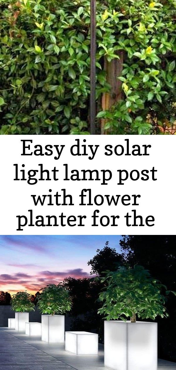 Easy Diy Solar Light Lamp Post With Flower Planter For The Entry By Our Driveway 17 Illuminated Planters How To Make With Images Solar Lights Diy Flower Planters Planters