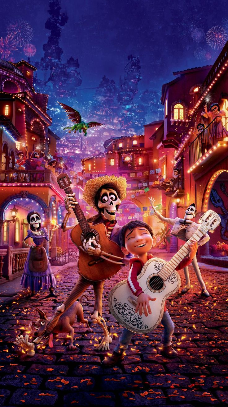 Coco (2017) Phone Wallpaper Moviemania