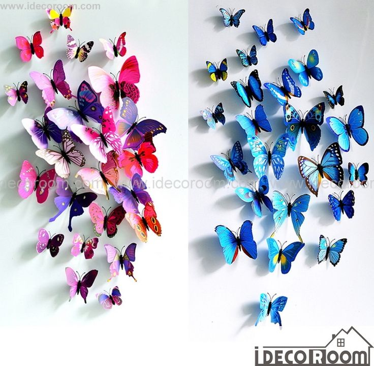 3D Butterflies Wall Decals Magnetic Fridge Wall Decor – IDecoRoom
