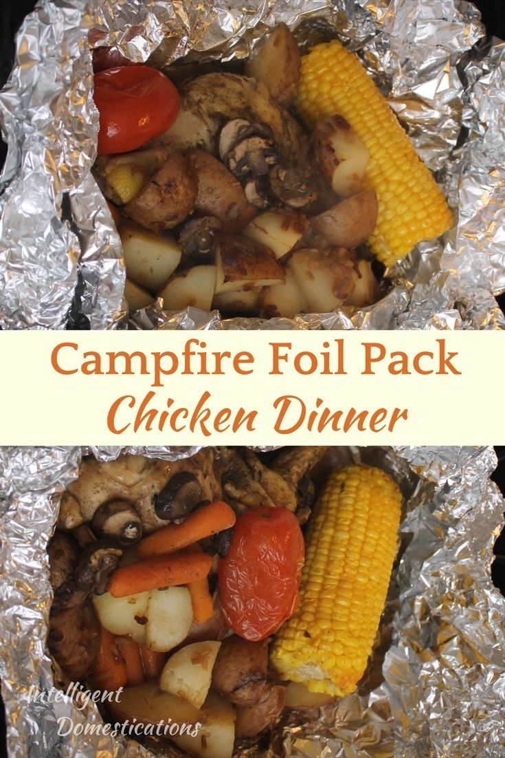 Dinner Grilled Chicken Leaf Pack and Campfire Grilled Vegetables   – Main Dish Recipes