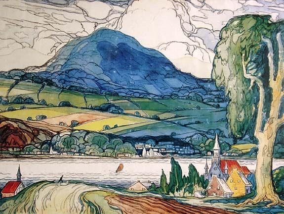 """""""Sainte-Famille, Ile d'Orléans"""" by Marc-Aurèle Fortin"""