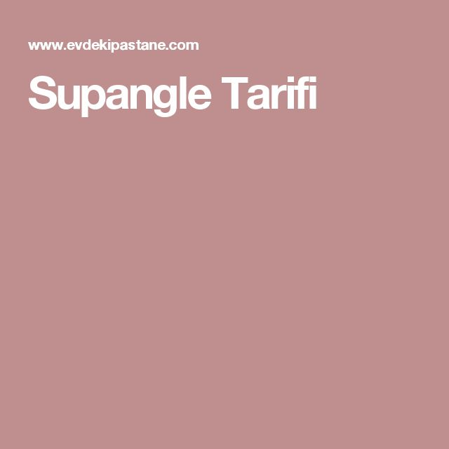 Supangle Tarifi