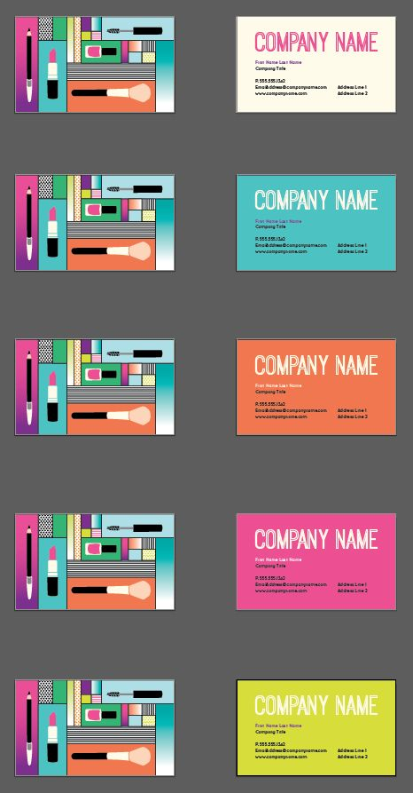 7 best design tool templates quirky business cards images on the pop makeup business card design reheart Images