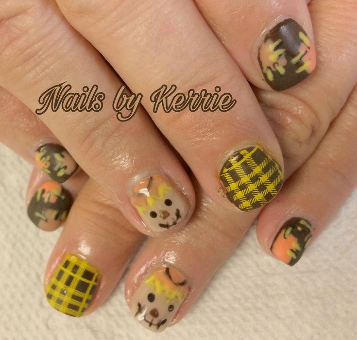 Scarecrow nails Fall nails | Nail Art Community Pins ...