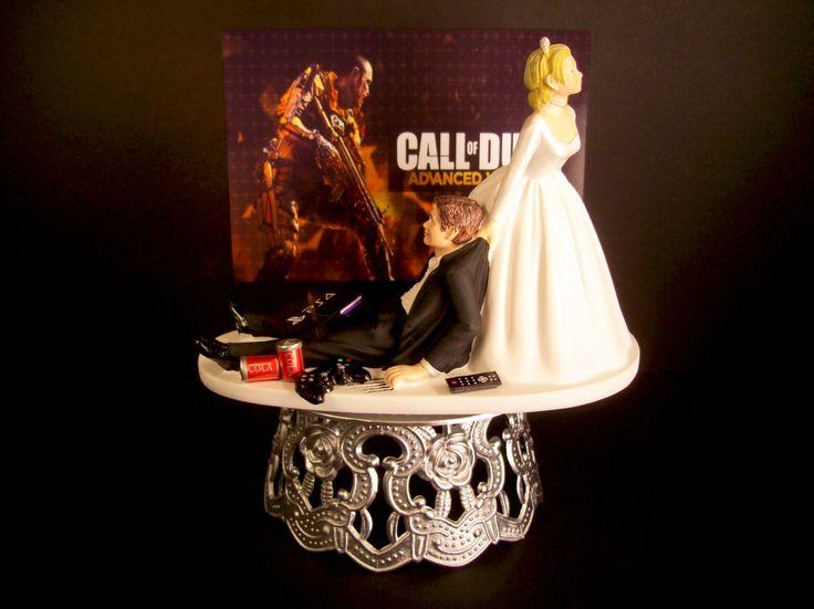 Wedding Cake Topper Custom COD Adv War GAME Video Gamer Xbox One/PS4 Funny Groom's Cake