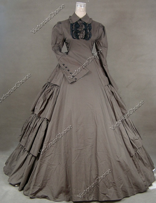 Victorian inspired cotton gown