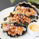 Sushi Tacos with Crispy Fried Seaweed Shells Recipe