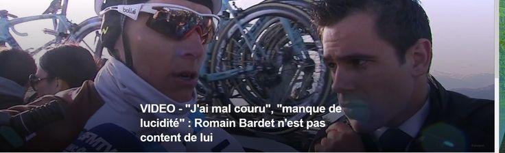 """PARIS-NICE - Il a manqué un peu de force et """"beaucoup de lucidité"""" à Romain Bardet, selon ses propres dires, pour accompagner les meilleurs jusqu'au bout samedi. Le Français de l'équipe AG2R termine 8e de l'étape à 30 secondes du vainqueur. """"J'ai mal..."""