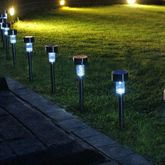 Solar Power Lawn Garden Yard LED Lights New Upgraded Waterproof Stainless Steel 10pcs/Pack  $24.99