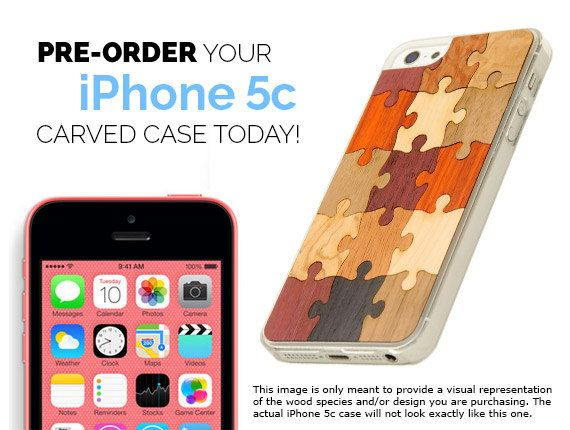 Wooden iphone 5c case, real wood and made in north america