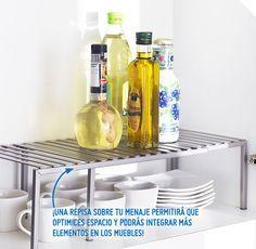 ¡Aprovecha los espacios dentro de tus muebles de cocina con el siguiente consejo! #Sodimac #Homecenter #SodimacHomecenter