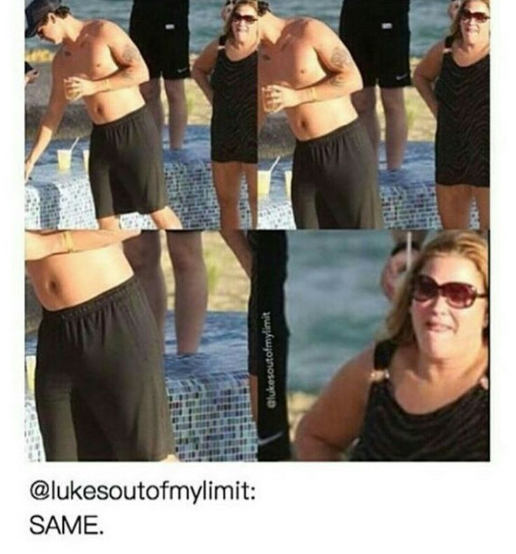 This lady  oh my lord. (Look at his wittle tummy tum )