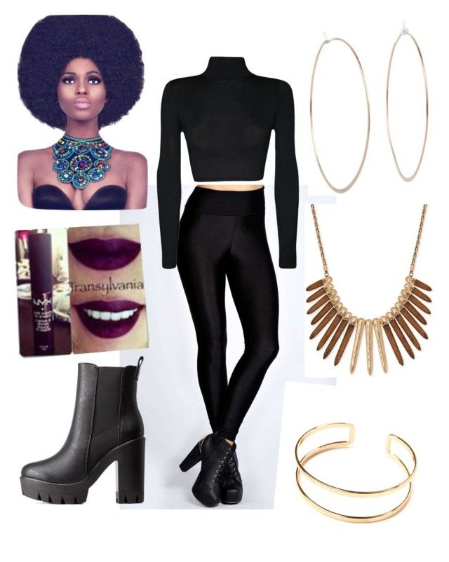 """""""Black Panther Party ✊"""" by bladebunny ❤ liked on Polyvore featuring Boohoo, WearAll, Michael Kors, Charlotte Russe and Lucky Brand"""