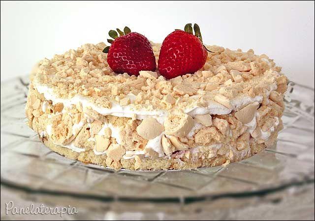 PANELATERAPIA - Blog de Culinária, Gastronomia e Receitas: Bolo de Morango Express