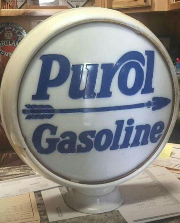 Purol Gas Globe - Rare Milk Glass Lenses!