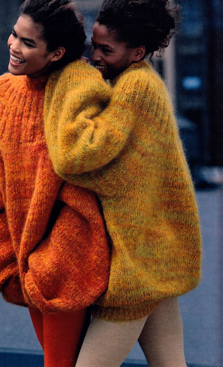 Tiziano Magni for The New York Times Magazine/Fashions of the Times, August 20, 1989. Sweaters by Marc Jacobs for Perry Ellis.