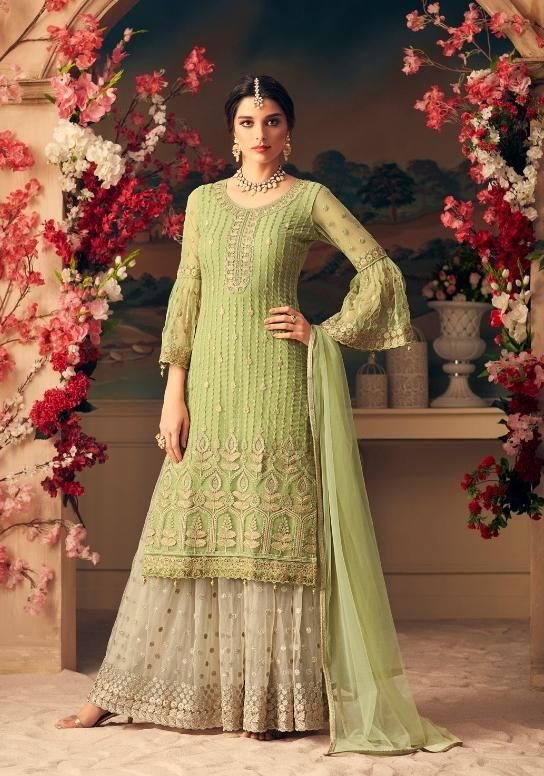 5d9fcf3090 Mohini Fashion Glamour Designer Sharara Style Salwar Suit di 2019 ...