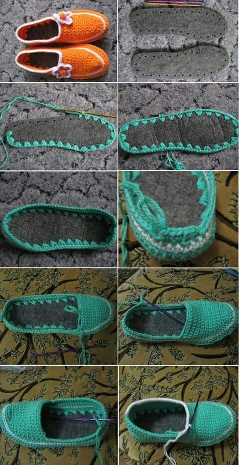 Pantunflas a crochet