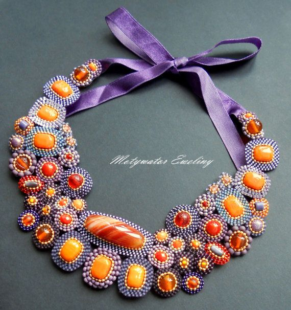 Sunset Necklace with Big Agate