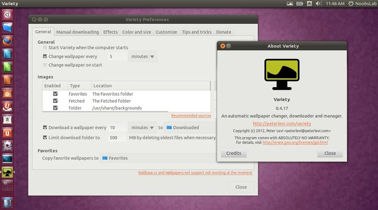 Install Variety Wallpaper Changer in Ubuntu/Linux Mint/other
