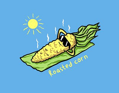"""Check out new work on my @Behance portfolio: """"roasted corn"""" http://be.net/gallery/52127027/roasted-corn"""