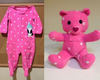 Custom Keepsake Teddy Bear: made from your own by NestlingKids