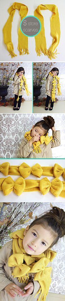Шарф с бантами (DIY) / Для детей / Модный сайт о стильной переделке одежды и интерьера