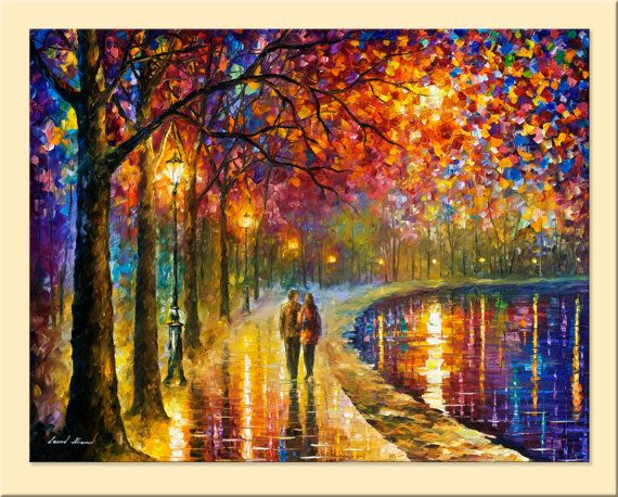 Spirits By The Lake — Limited Edition Living Room Decor Print On Canvas By Leonid Afremov.      #MondayMorning