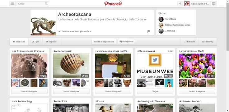 Archeotoscana Profile on Pinterest. Profile showcasing archeological treasures from Tuscany.