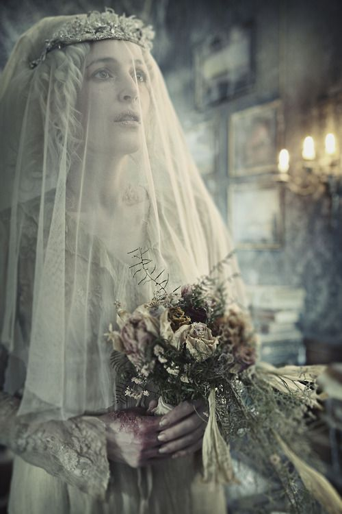 Gillian Anderson as Miss Havisham in the BBC adaptation of Great Expectations. Toby Flood also starred in this. Except it wasn't actually him, it was just an actor that looked like him.