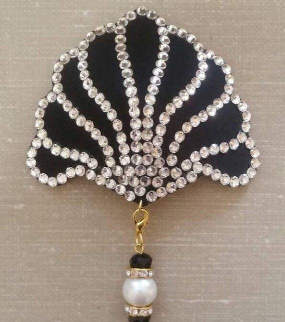 Art deco art nouveau crystal ventilatore burlesque pasties