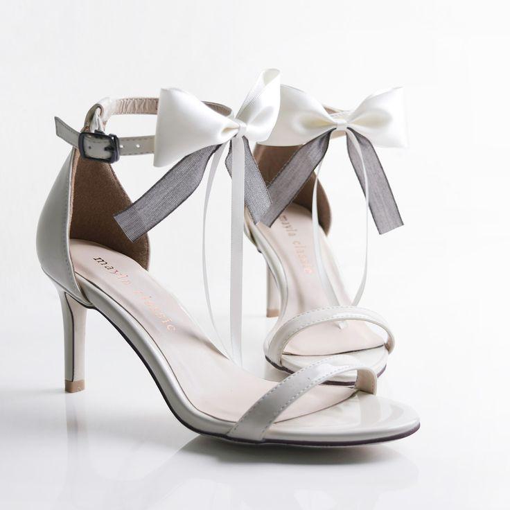 maylaclassicシアラレオネサンダルレッドソールリボンレディース靴ストラップルブタン美脚ミドルヒールピンヒールハイヒールヒール7cm大きいサイズ白赤エナメル黒25.5cm