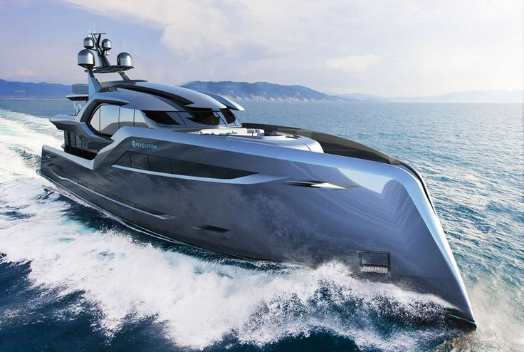 Concept 'Revolution' by Andy Waugh Yacht Design... intended to contradict the #superyacht styling conventions and traditions... we think she achieves it with this fierce and powerful design. What are your thoughts? #metalfabrication for #superyachts www.vcmetalwork.com