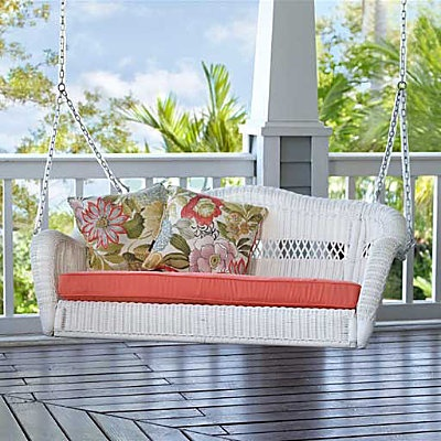 saybrooke resin wicker porch swing27999 - Wicker Porch Swing