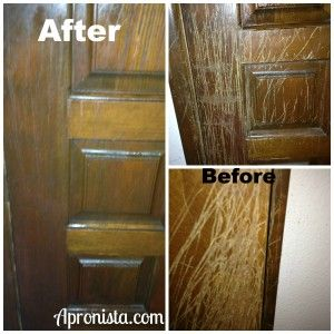 Woodwork Miracle — The Apronista -- Plain old oil and vinegar saved the day!  #cleaning #miracle