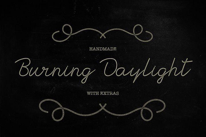 Burning Daylight from FontBundles.net