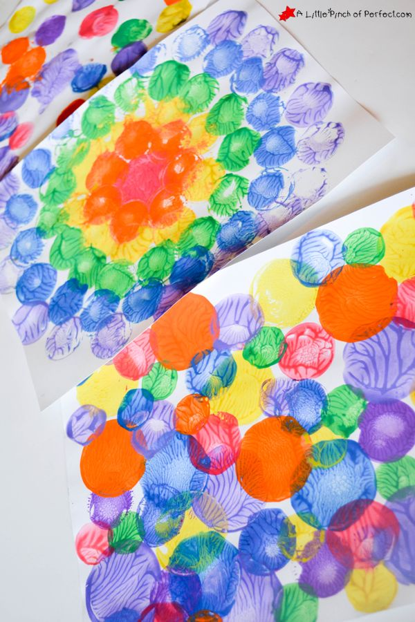 Milk Caps and Lids Squish Painting: Process Art for Kids | A Little Pinch of Perfect